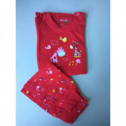 Pyžamo Kugo žirafy červené