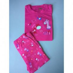 Pyžamo Kugo žirafy růžové