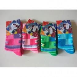 Ponožky teplé Design kytky