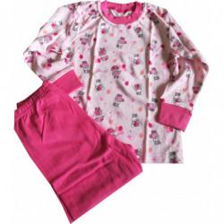 Pyžamo Queen růžové hrošíci