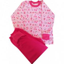 Pyžamo Queen růžové kočička