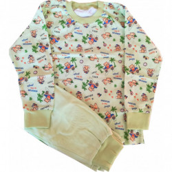 Pyžamo Queen zelené tygříci