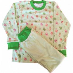 Pyžamo Queen zelené zvířátka