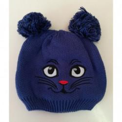Čepice zimní kočka