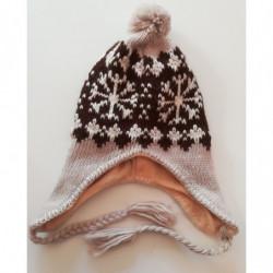 Čepice zimní pletená vločky