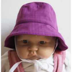 Klobouček softshell fialový