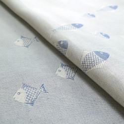 Jersey Doubleface Ringel Marineblau - elastický šátek na nošení dětí Didymos