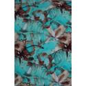 Trojlístky - purpurová-modrá - šátek na nošení dětí ŠaNaMi