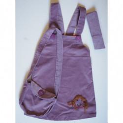 Šaty manšestr fialové