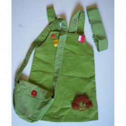 Šaty manšestr zelené