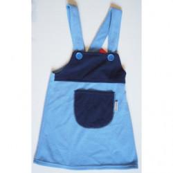 Šaty fleece modrá